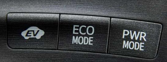 プリウスのエコモードボタン