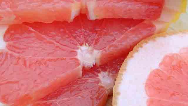ピンクグレープフルーツの色