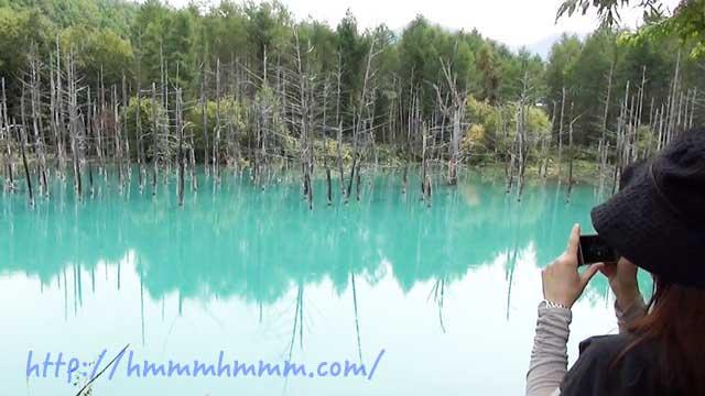 青い池の美瑛ブルー