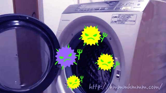 カビと菌が発生したドラム式洗濯乾燥機