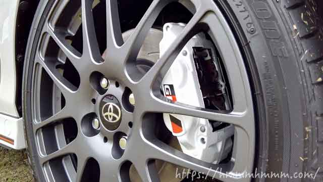 BBS製ホイールとブリヂストン制のタイヤ